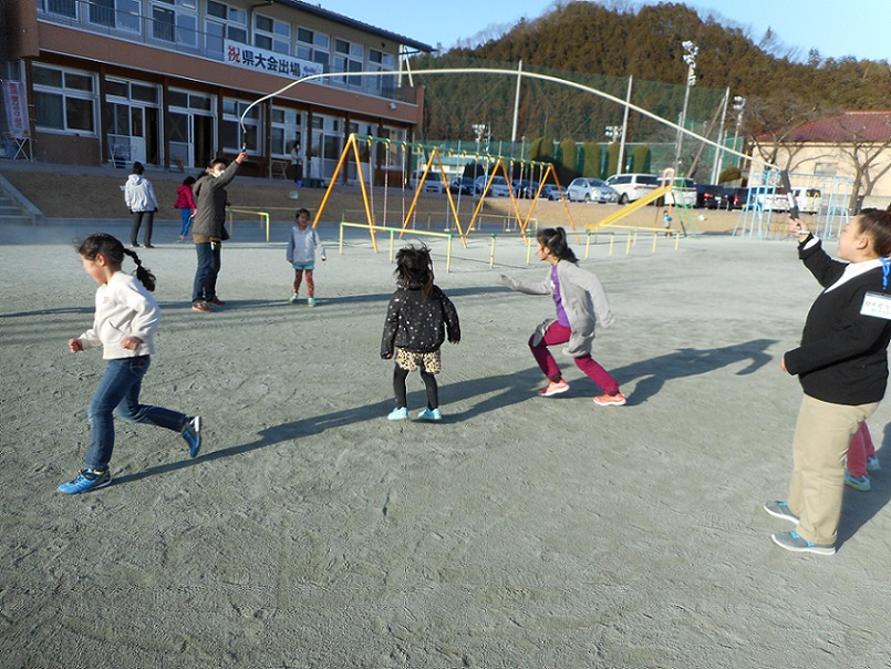 放課後子ども教室ー長縄遊びー