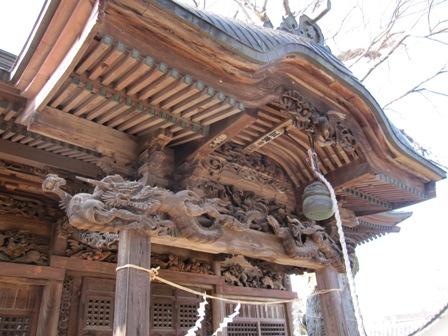 諏訪神社の彫刻